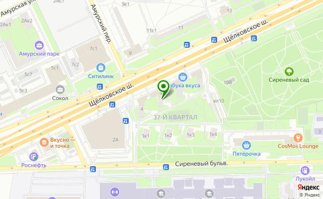 Сбербанк Москва шоссе Щелковское 6 карта