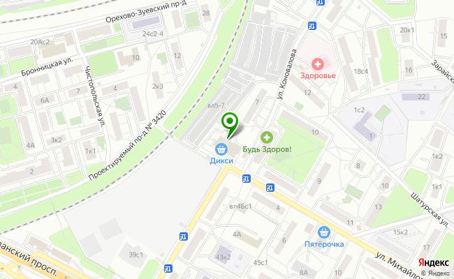 Сбербанк Москва ул. Коновалова 5 карта