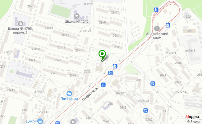 Сбербанк Москва шоссе Открытое 25, корп.1 карта