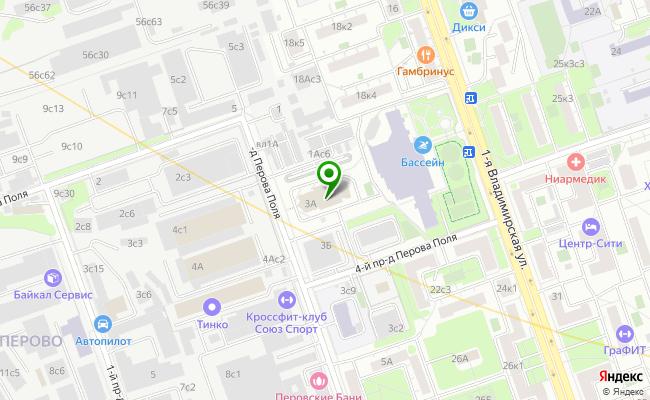 Сбербанк Москва ул. 3-й проезд Перова Поля 3А карта