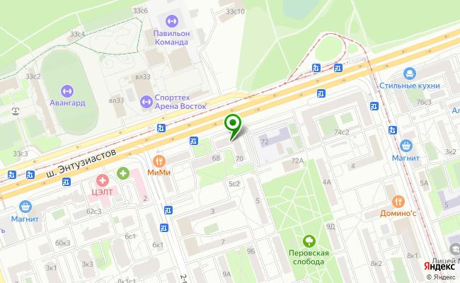 Сбербанк Москва шоссе Энтузиастов 70 карта