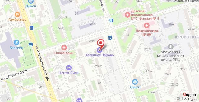 Хостел Hotelhot Перово на карте