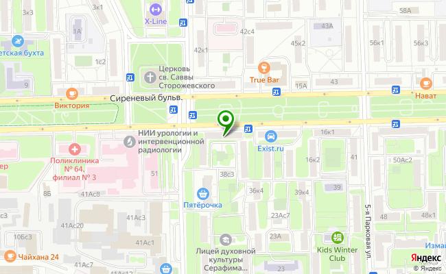 Сбербанк Москва бульвар Сиреневый 12, корп.1 карта