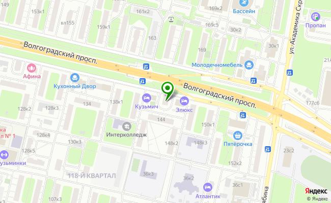 Сбербанк Москва проспект Волгоградский 142, корп.2 карта