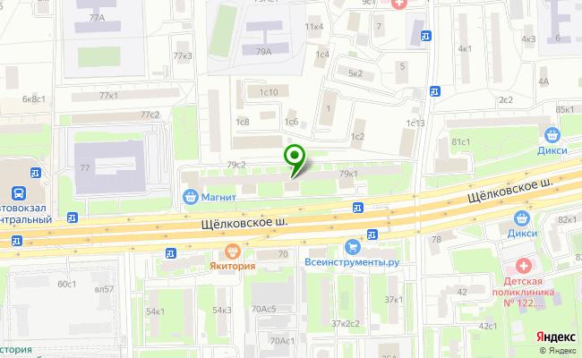 Сбербанк Москва шоссе Щелковское 79, корп.1 карта