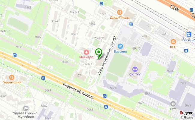 Сбербанк Москва проспект Рязанский 95, корп.2 карта