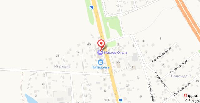 Отель Мастер-Отель Домодедово на карте