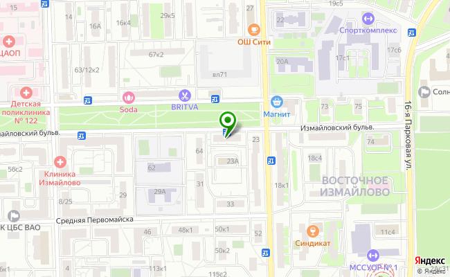 Сбербанк Москва бульвар Измайловский 66, стр.1 карта