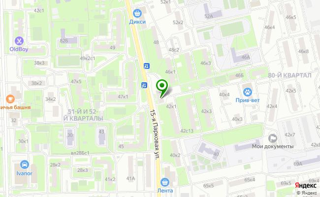 Сбербанк Москва ул. 15-ая Парковая 44, корп.1 карта