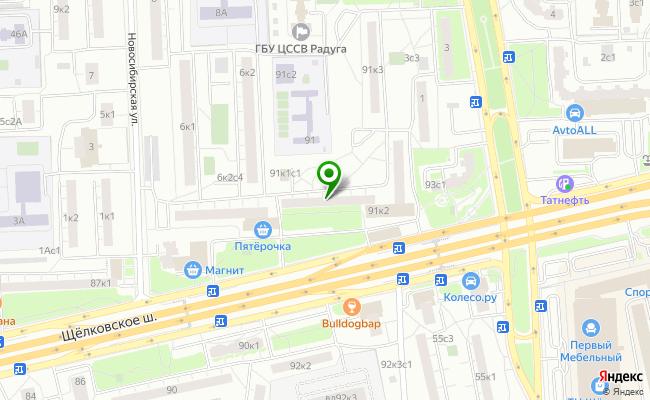 Сбербанк Москва шоссе Щелковское 91, корп.1 карта