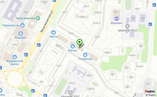 Сбербанк Москва ул. Вешняковская 29Б, стр.2 карта