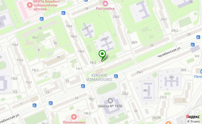 Сбербанк Москва ул. Челябинская 21, стр.1 карта