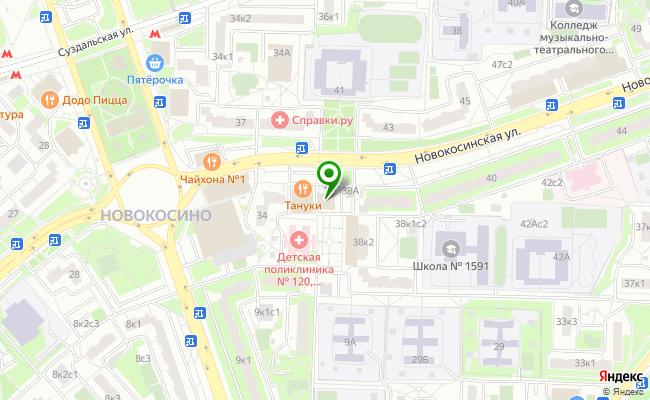 Сбербанк Москва ул. Новокосинская 36Б карта