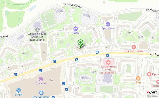 Сбербанк Москва ул. Рудневка 19 карта