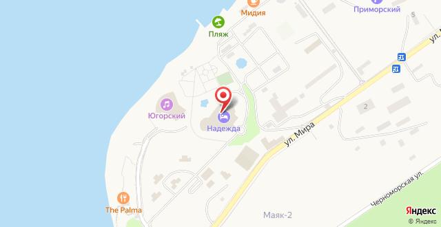Курортно-оздоровительный комплекс Надежда на карте