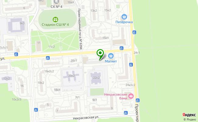 Сбербанк Москва Некрасовка, ул. 1-я Вольская 22, корп.1 карта