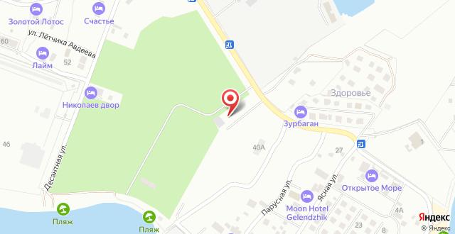 Гостевой дом Яблоко на карте