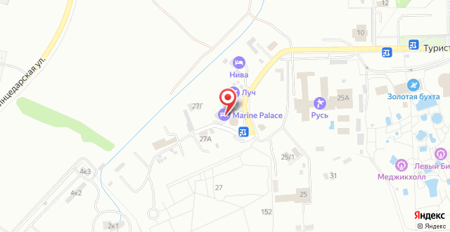 Отель Marine Palace на карте