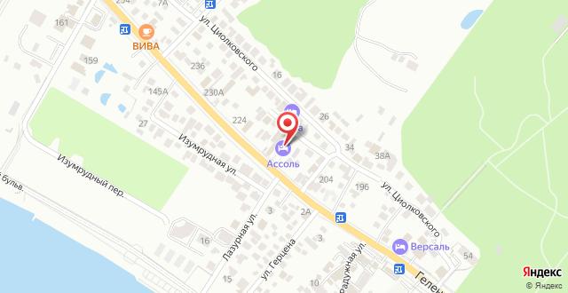 Гостиница Ассоль на карте