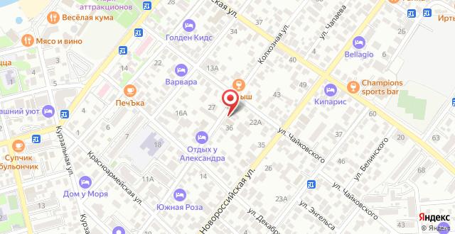Гостевой дом Родос на карте