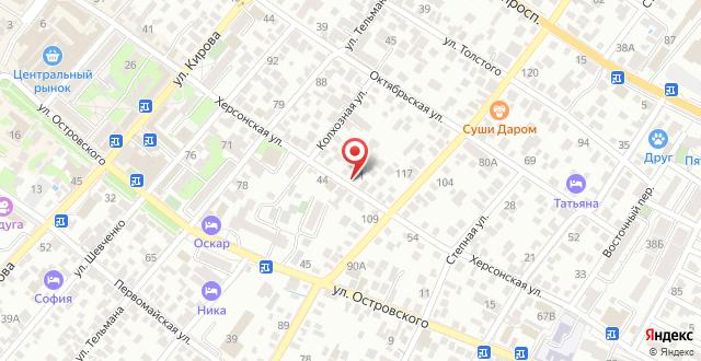 Гостевой дом На Херсонской на карте