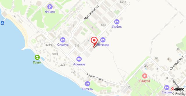 Мини-отель Легенда на карте