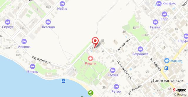 Мини-отель Дивная на карте