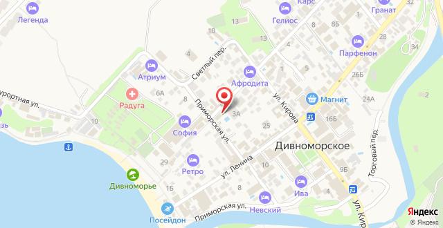 Гостевой дом В гостях у Танечки на карте