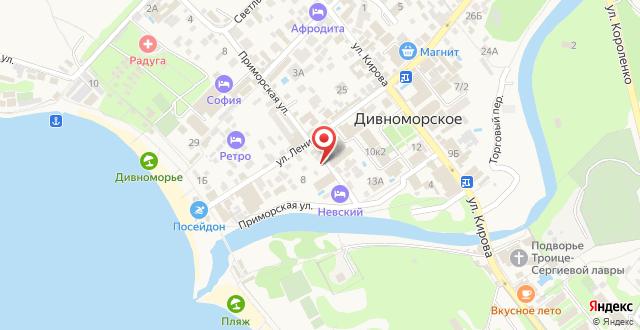 Отель Невский на карте