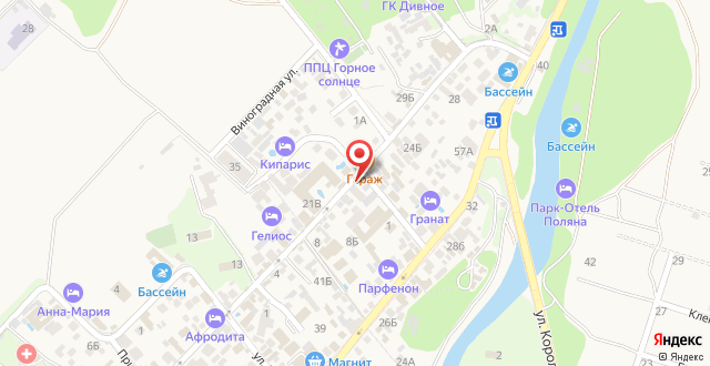 Гостевой дом Rif на карте