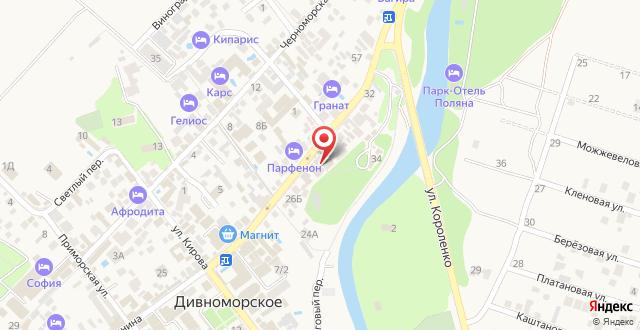Гостевой дом Дивная на карте