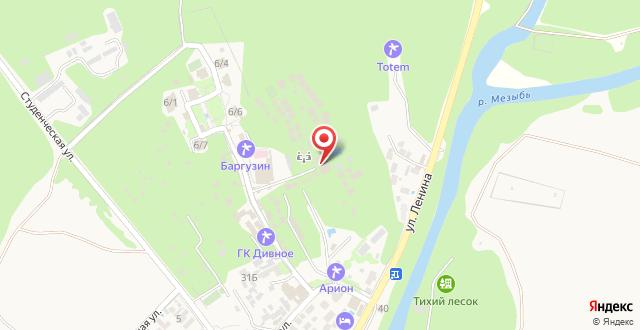 База отдыха Талка Village на карте