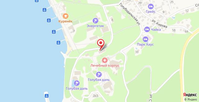 Отель Голубая Даль на карте