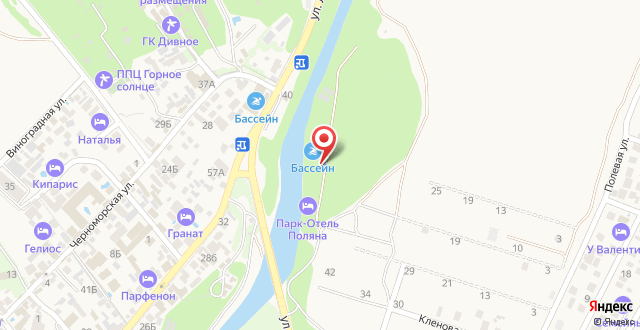 Парк-Отель Поляна на карте