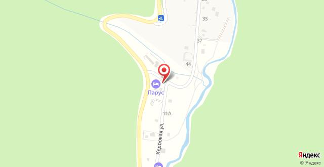 Гостевой дом Парус на карте