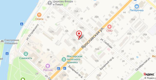 Апартаменты на Ярославской на карте