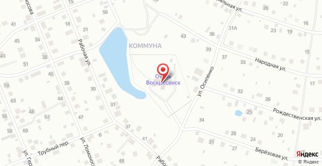 Отель Воскресенск на карте