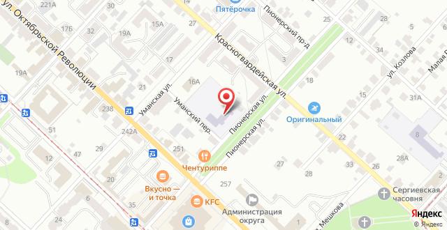 Гостиница Центральная Усадьба на карте