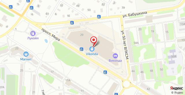 Отель Виконда на карте