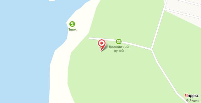 База отдыха Волковский ручей на карте