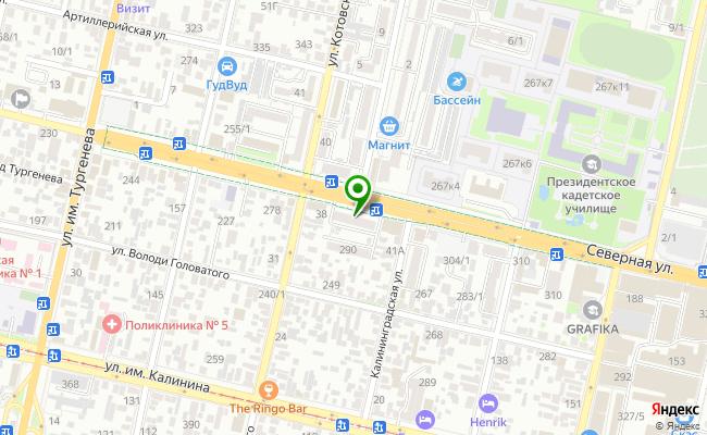Сбербанк Краснодар ул. Северная 288 карта