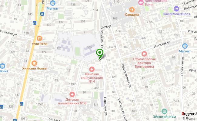 Сбербанк Краснодар ул. Парковая 7, корп.1 карта