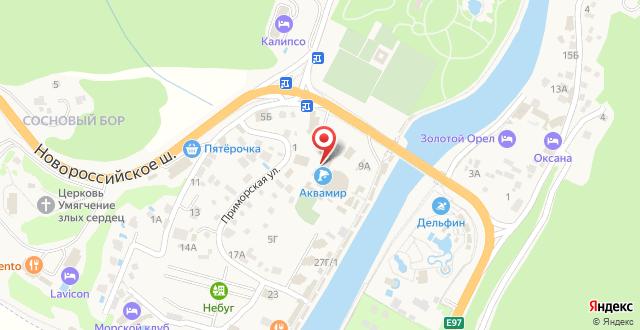 Гостиница Аква Вита на карте