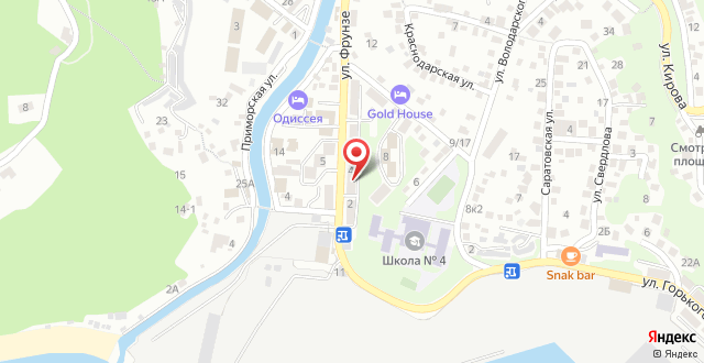 Апартаменты На Фрунзе 4 на карте