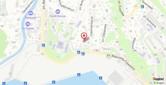 Апартаменты Гостевая студия на переулке Володарского 2 на карте