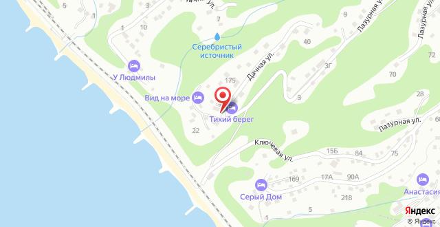 Гостевой дом Родное место Туапсе на карте