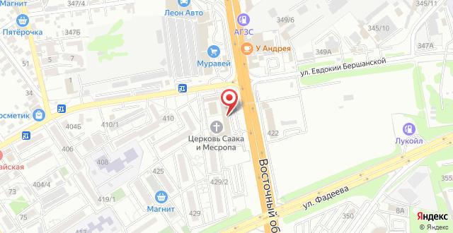Гостиница Пегас на карте