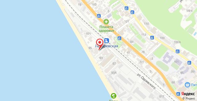 Хостел Сочи на карте