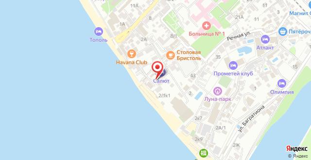 Парк-Отель Салют на карте