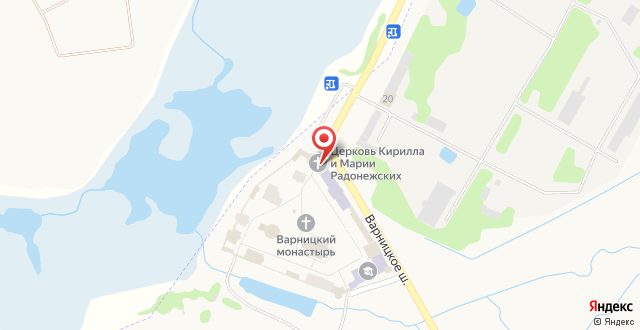 Гостиница Троице-Сергиев Варницкий мужской монастырь на карте